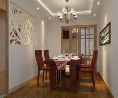 新中式餐厅3d模型下载