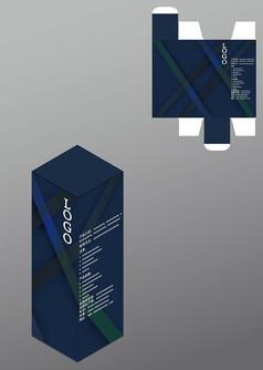 斜纹设计精品包装盒模板