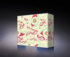 时尚红色包装盒