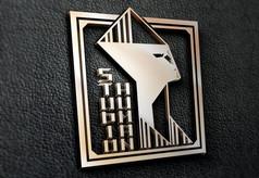 提案贴图金属立体标志展示logo效果图