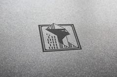 提案贴图凹印工艺标志展示logo效果图