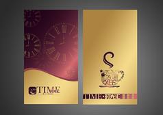 金色简约咖啡封面设计