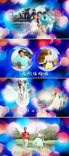 浪漫唯美婚礼相册片头AE模板