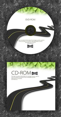 黑色公路记录质感光盘设计