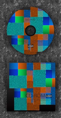 格子抽象时尚质感光盘设计