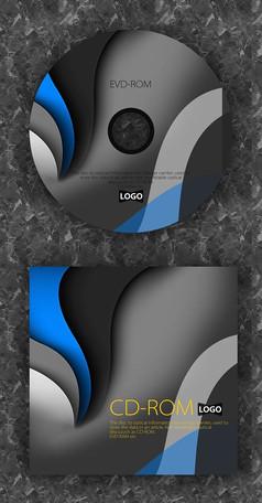 蓝色简洁大气高档质感光盘设计