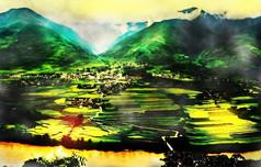 风景画油画装饰画