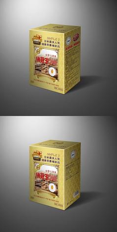 纳豆产品包装盒子设计