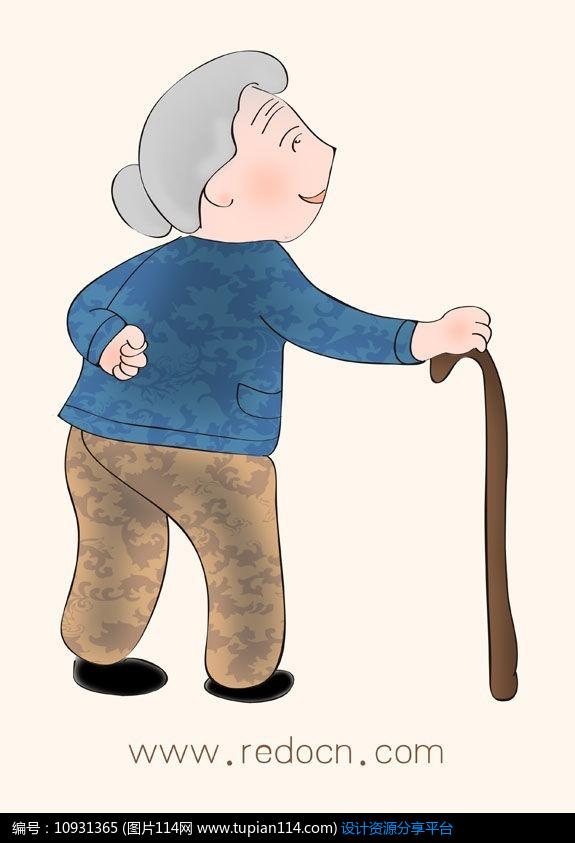老人漫画_可爱卡通手绘老人插画设计素材免费下载_其他PSD_图片114