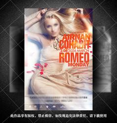 国外欧美性感美女宣传海报排版设计PSD素材