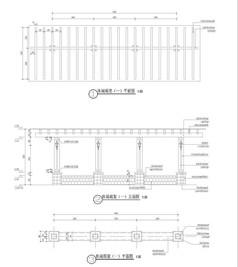 休闲廊架平立面图CAD