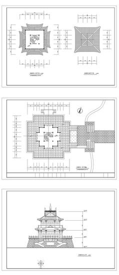 寺庙建筑CAD图