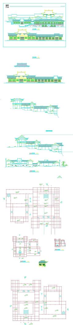 仿古建筑设计CAD图