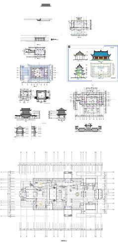 古塔建筑施工图