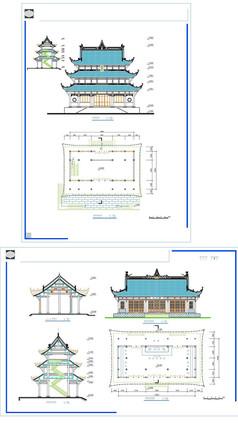 中国古塔建筑设计图纸