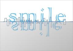 微笑的城市英文字体设计