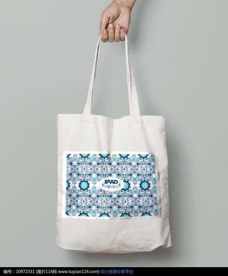 矢量图库 矢量广告设计稿 手提袋 简约欧式花纹图案设计
