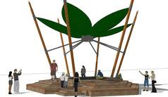 钢制叶形景观廊架