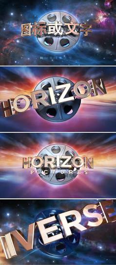 震撼大气三维金属质感电影logo开场片头ae模板