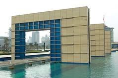 框形水景景观廊架