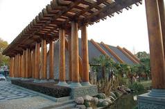 木质景观廊架