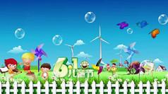 卡通背景儿童节视频素材