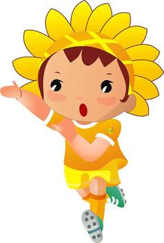 踢足球的向日葵娃娃