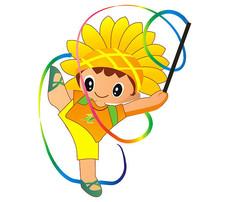 练习体操的向日葵娃娃