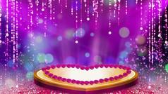 唯美舞台婚礼爱情背景视频