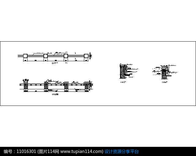 玻璃格式CADcad及护栏转换修复图片