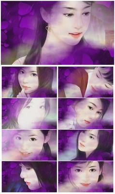 紫色古典美女武侠音乐通用背景