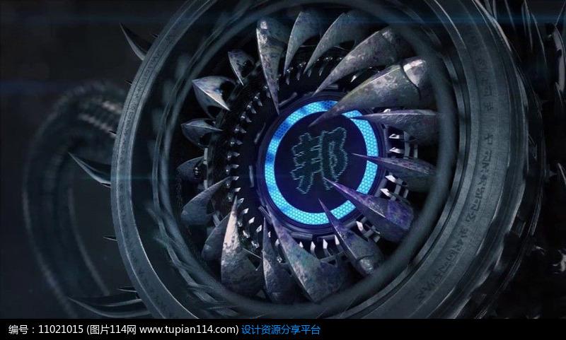[原创] 高科技怪物神秘logo演绎ae模板