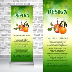 绿色无公害农产品水果苹果橙子易拉宝