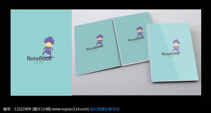简约小清新本子封面设计素材免费下载_画册设计cdr