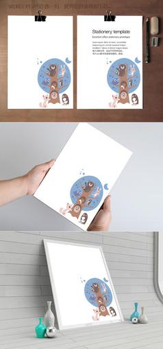 小动物卡通信纸