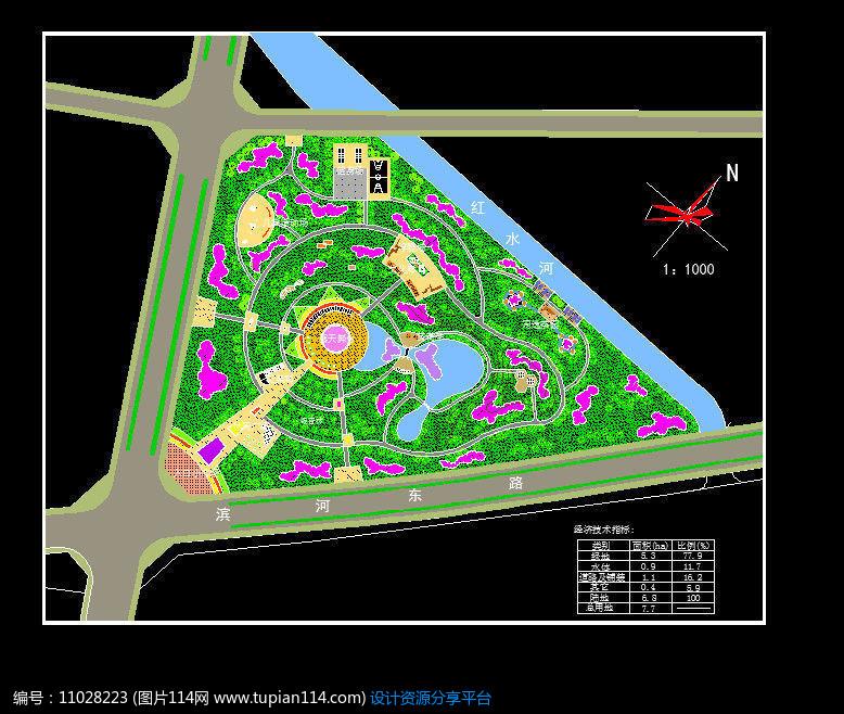平面手机CAD广场景观设计公园头v平面门图片
