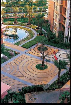 大型商业广场及住宅小区建筑模型图片