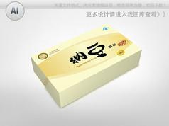 金色背景纳豆颗粒包装盒