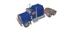 大货车动力车头模型