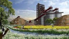 工厂改造景观设计效果图