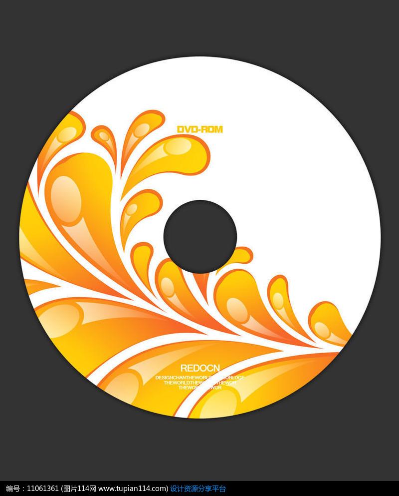创意抽象花卉光盘设计素材免费下载_包装设计psd_图片图片