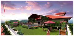 酒店屋顶花园PSD