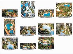 以游泳池为中心的整体景观意向图