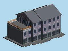 多层居住建筑附带阳台
