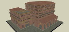 古罗马红砖多层建筑