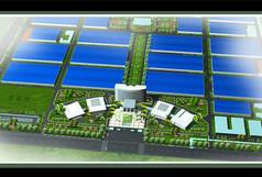 某工业园绿化鸟瞰效果图