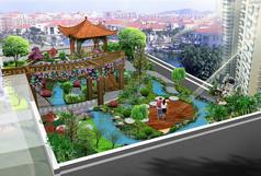 屋顶花园景观绿化效果图