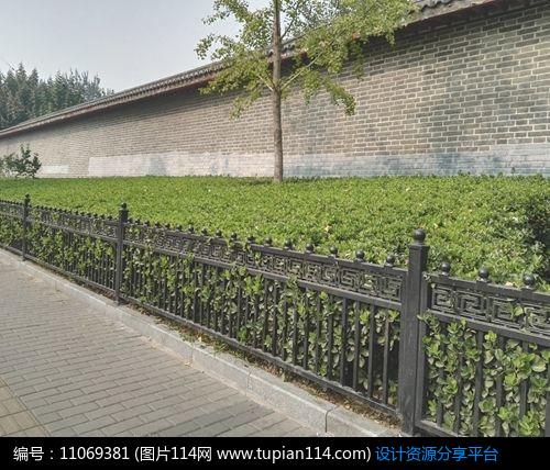 3d素材 方案意向 围墙|栏杆|大门 新中式景观栏杆     素材编号:11069图片