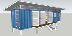 屋檐式集装箱改造