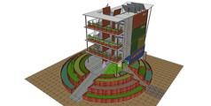 多层集装箱改造建筑